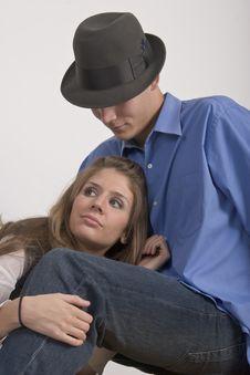 Cuddling Couple Royalty Free Stock Image