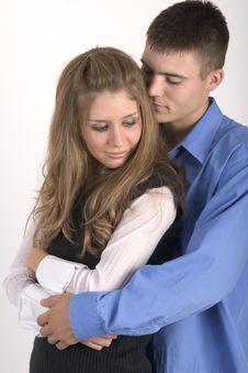 Cuddling Couple Stock Image