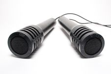 Free Two Old Microphones Isolated Stock Photo - 3136570