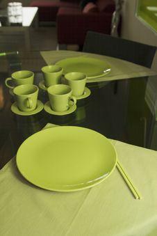 Free Green Dinnerware Royalty Free Stock Image - 3136746