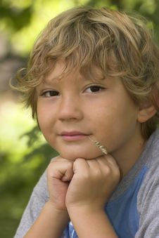 Free Bond Haired Boy Stock Images - 3136854