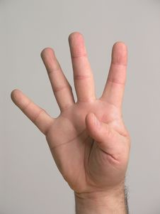4 Fingers - 1 Royalty Free Stock Photography