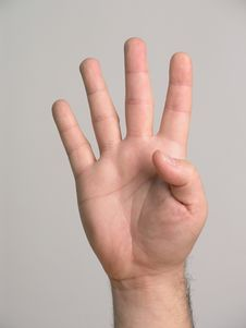 Free 4 Fingers - 2 Royalty Free Stock Photos - 3136958