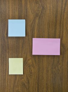 Sticky Sheets Of Paper For Wri Stock Images