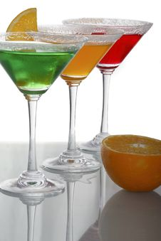 Multicolor Cocktails & Citrus Royalty Free Stock Photo