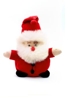 Free Santa Puppet On White Royalty Free Stock Photo - 3138625