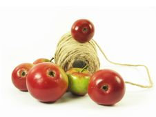Free Red Apples And String Stock Photos - 3138633