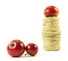 Red Apples And String Stock Photography