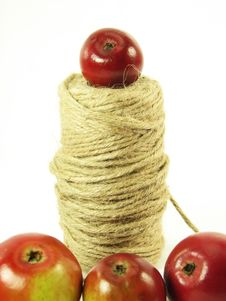 Free Red Apples And String Stock Image - 3138721