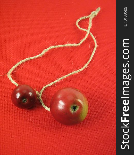 Red apples and string