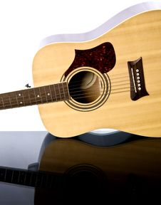 Free Guitar On Table Stock Photography - 31300102