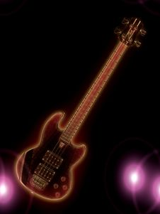 Free Glowing Guitar Royalty Free Stock Images - 31300529