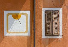 Free Sundial And Window Stock Image - 31304641