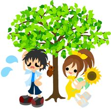 Free In The Shade Of A Tree In The Midsummer. Stock Image - 31306151