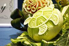 Free Cantaloup Carving 10 Royalty Free Stock Photo - 31307065