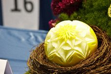 Free Cantaloup Carving 13 Stock Photos - 31307173