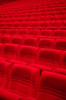 Free Red Arm-chairs In Empty Hall Stock Photos - 31307333