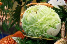 Free Cantaloup Carving 5 Royalty Free Stock Photos - 31307448