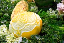 Free Cantaloup Carving Royalty Free Stock Photo - 31307635