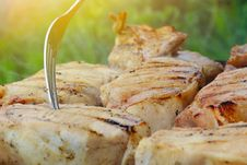 Free Grilled Pork Steak BBQ Stock Image - 31311671