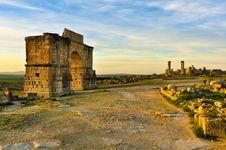 Free Volubilis Roman Arch Stock Photos - 31313563
