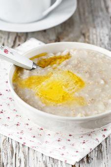 Free Porridge With Butter Royalty Free Stock Photos - 31313808