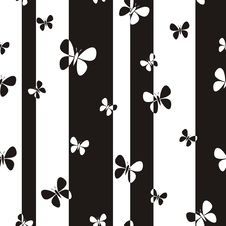 Free Butterflies Pattern Royalty Free Stock Photos - 31315088