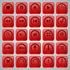 Free Application Icons Vector Set Stock Photo - 31316350