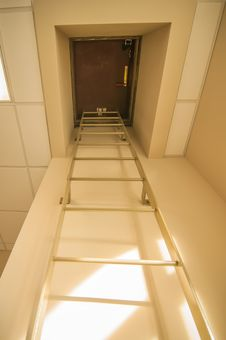 Roof Access Hatch Stock Image