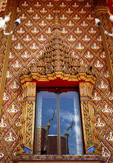 Window Of Thai Temple Royalty Free Stock Photo