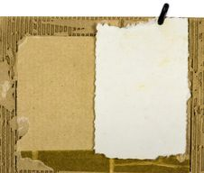 Free Mulberry Paper On Cardboard Scrap Royalty Free Stock Photo - 31322145
