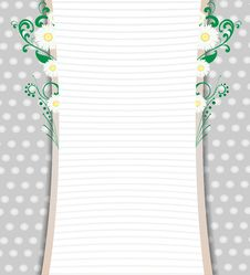 Card With A Floral Pattern Elements. Royalty Free Stock Photos