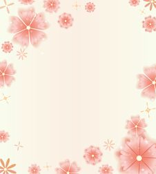 Free Beautiful Floral Background In Bright Red Colors Royalty Free Stock Image - 31322376