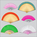 Free Colored Fan Stock Image - 31332261