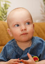 Free Portrait Of The Serious Baby Boy. Stock Photography - 31335932