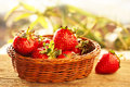 Free Strawberries In Baskets Stock Photos - 31336223