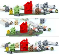 Free Banner Urban Construction Stock Photography - 31330662