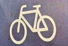 Sign Of A Bike Lane Stock Images