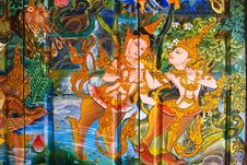 Thai Style Painting Art Stock Image
