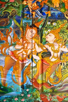 Thai Style Painting Art Royalty Free Stock Image