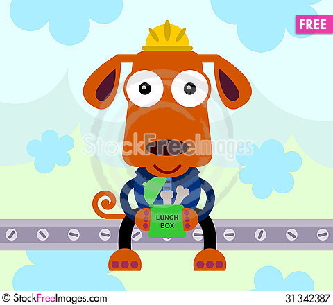 Free Lunch For Dog Royalty Free Stock Photography - 31342387
