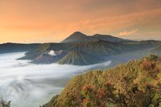 Free Bromo Mountain In Tengger Semeru National Park At Sunrise Stock Images - 31341234