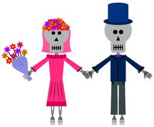Free Skeleton Wedding Royalty Free Stock Image - 31342406
