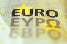 Euro Banknote Detail Stock Photography