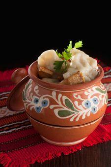Free Dumplings. Ukrainian Dish Royalty Free Stock Photo - 31346265
