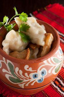 Free Dumplings. Ukrainian Dish Royalty Free Stock Photos - 31346268