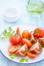 Free Three Varieties Of Tomato On A Plate Stock Photo - 31351170