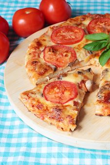 Vegetarian Pizza With Champignons Stock Image