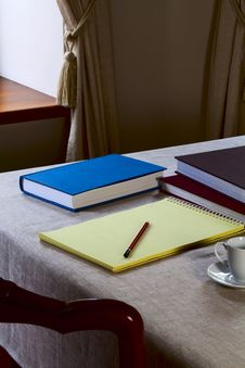 Free Notebook On The Table Royalty Free Stock Images - 31356309