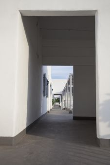 Free Passage Through The Doorway In Santorini Thailand Royalty Free Stock Images - 31357889